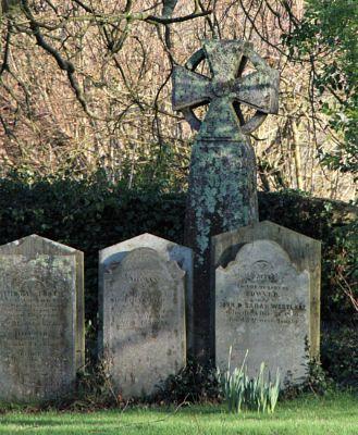 Celtic Cross in Calstock Grave Yard