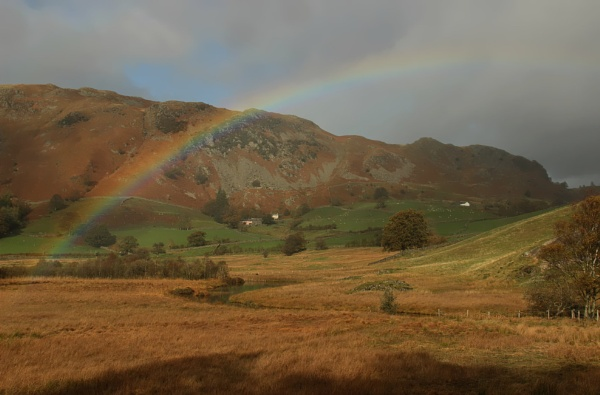 Rainbow in the Langdales by canoncarol