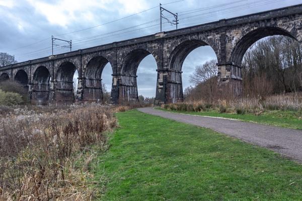 Nine Arches Viaduct, Sankey Valley path nr Earlestown, Merseyside by newbiek50user
