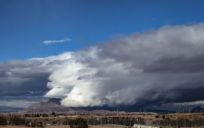 Storm Cell Over Frenchman Mountain, Las Vegas, Nevada
