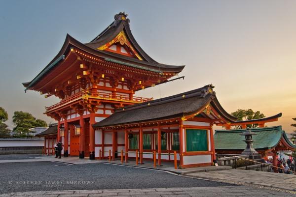 Sunset over Fushimi-Inari Taisha by Stephen_B