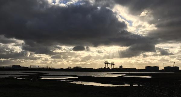 Panorama from RSPB Saltholme by oldgreyheron