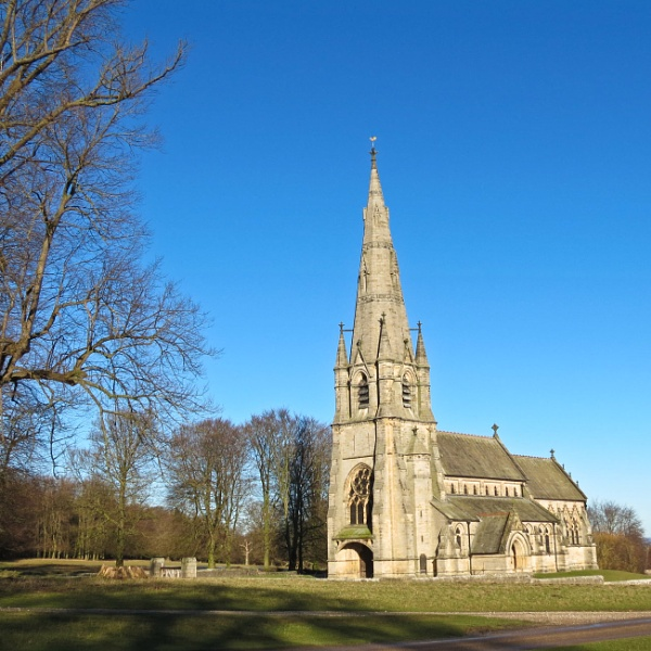 St. Mary\'s church Studley Royal. by Drighlynne