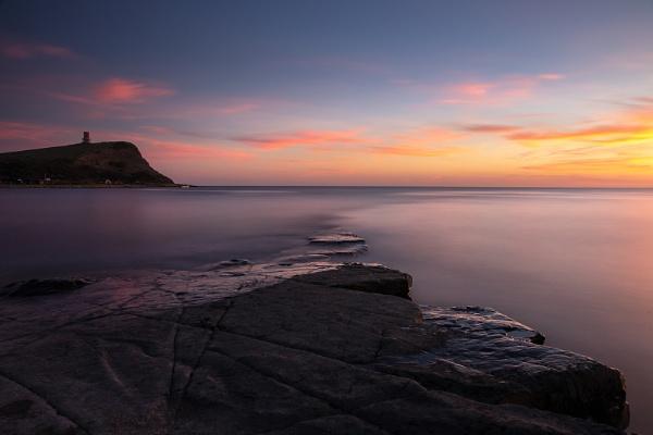 Sunset at Kimmeridge Bay by Les_Cornwell