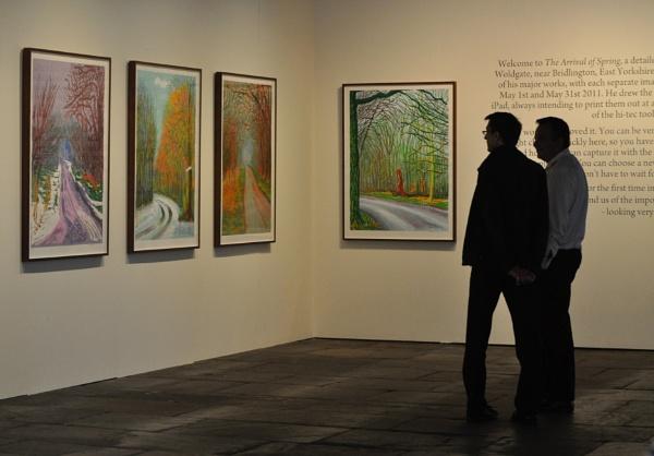 Salts Mill . David Hockney exhibition of his work \'Spring\' by jerseygirl65
