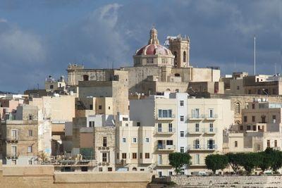 View of Valletta, Malta from shipboard.