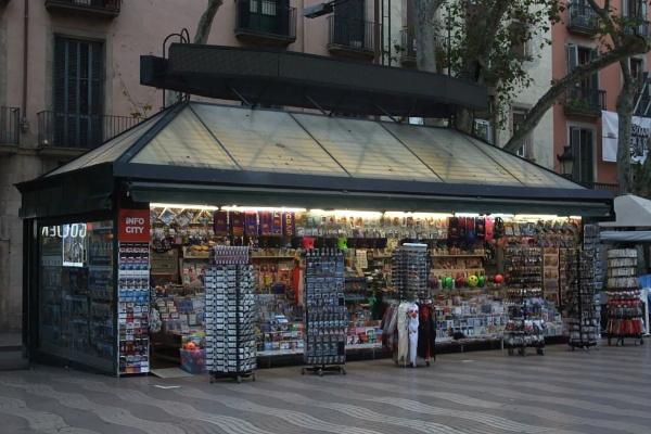 Vendor on Las Ramblas, Barcelona by MentorRon