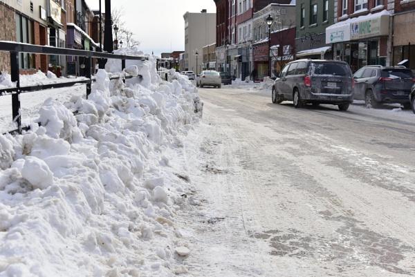 City street in winter by djh698