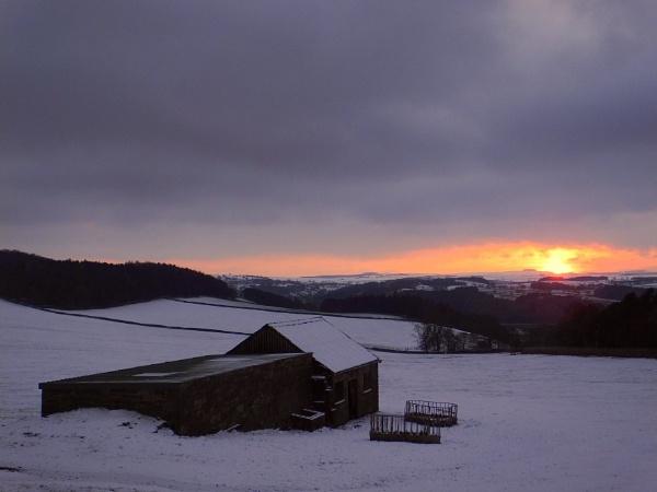 Winter Sunset by ianmoorcroft