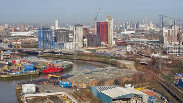 Building development taking place around Canning Town by prtd