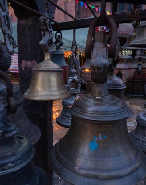 Bells at the Durga Temple, Kathmandu by andreaozment