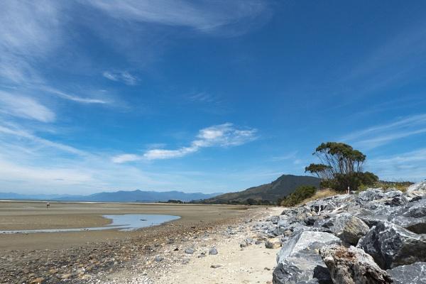 Deserted Beach at Golden Bay NZ by Janetdinah
