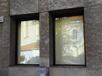 Windows in concrete house
