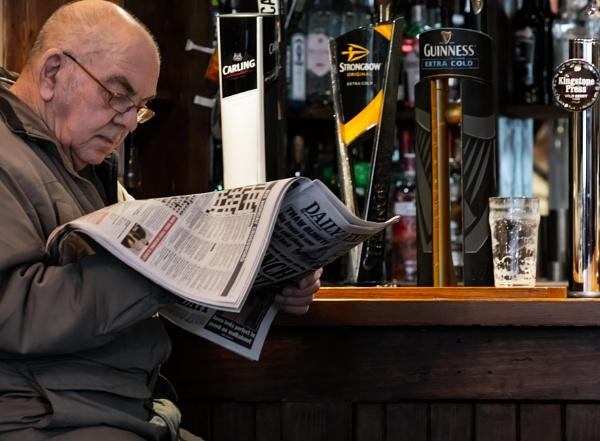 Pint of Kingstone Press down in Express Headline sentence case SHOCKER! by Bookerblood
