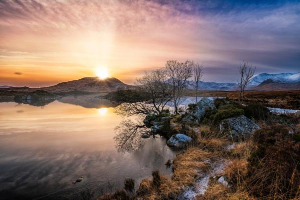 Blackmount Sunset by douglasR