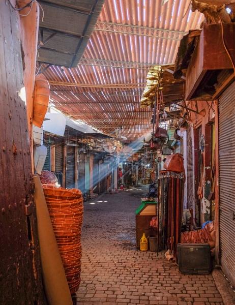 Souk in Marrakech by Franticsmurf
