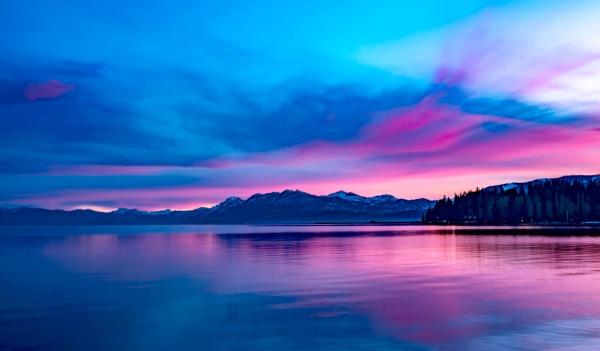 Daybreak over Lake Tahoe California by tonyheps