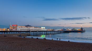 BRIGHTON, EAST SUSSEX/UK - JANUARY 26 : View of Brighton Pier in