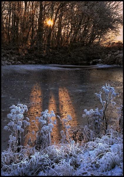 Frozen Sundown by Niknut