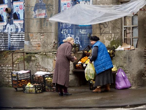 Street corner fruit seller, Tbilisi by hrsimages