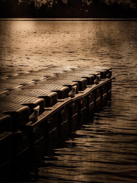 Pier on lake by rninov