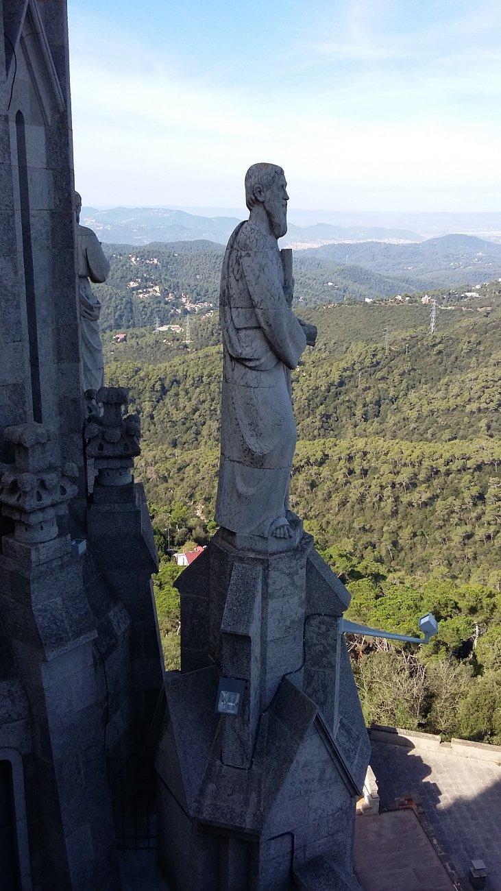 View from Temple de Sagrat Cor Barcelona (1)