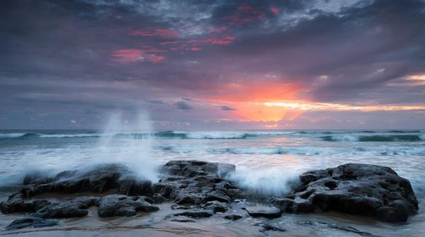 Sunrise Splash by graemeandrew
