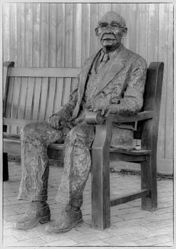 Sculpture of Rudyard Kipling,Burwash,EastSussex