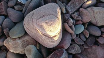 Stones on Dunster Beach