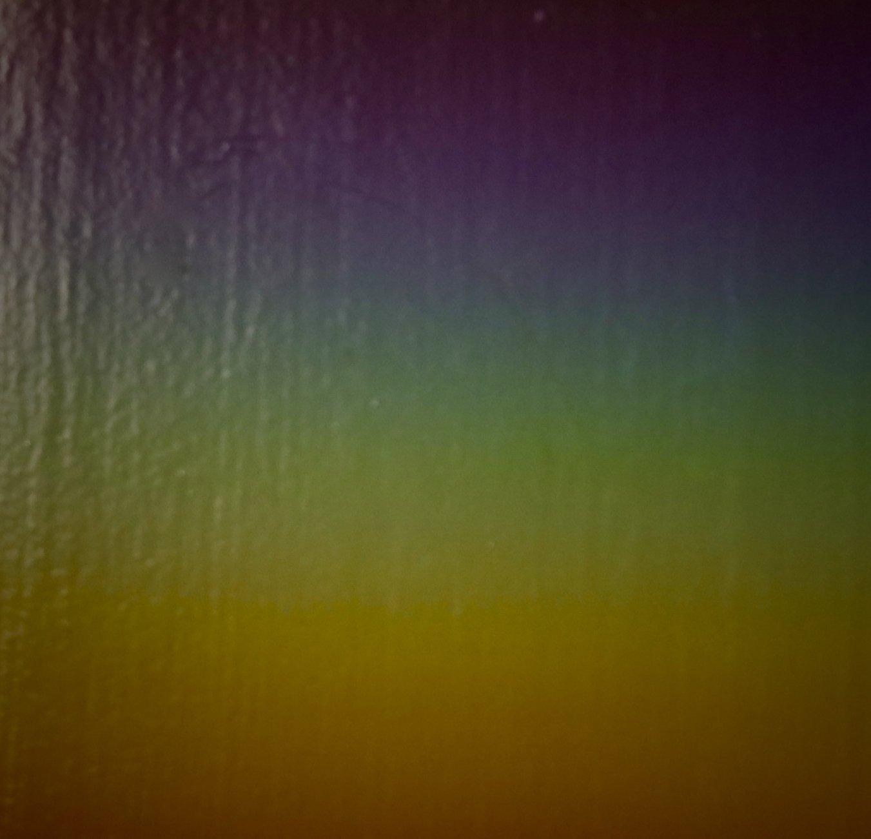 psychedelic light refraction on my front door