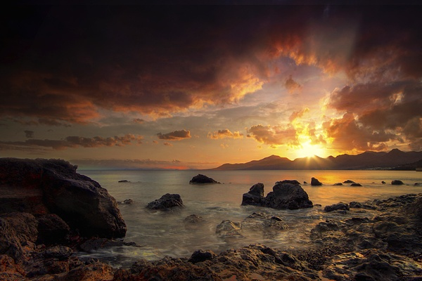 coastal sunset by kenwil