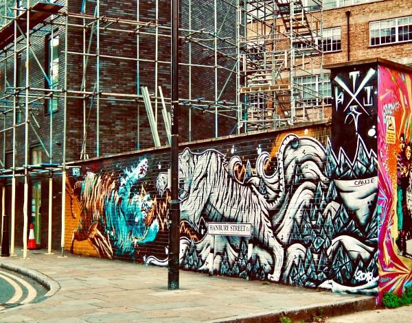 Grungy graffiti by KrazyKA