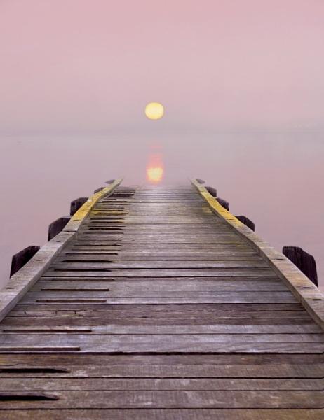 Sunrise over the Pier by adriansart