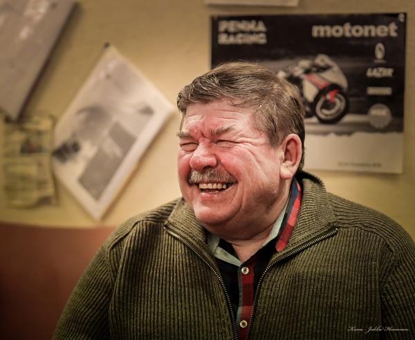 Laughing. by Jukka