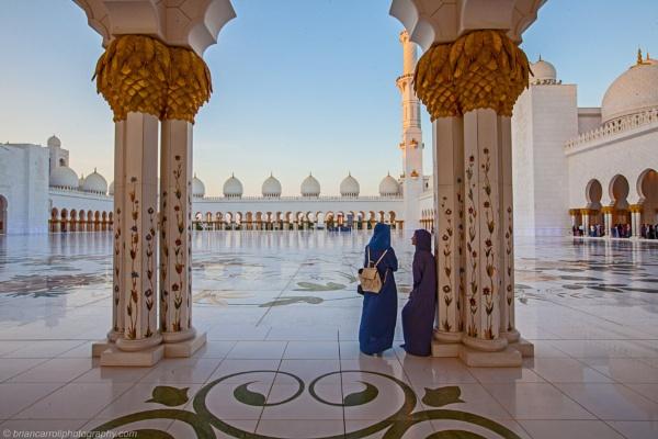 Sheikh Zahed  Grand Mosque, Abu Dhabi, UAE by brian17302