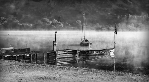 Morning mist rising by deavilin