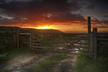 Sunset Behind the Gate
