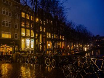 Rainy night in Amsterdam
