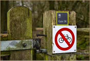 Gate 38, Cyclists not welcome.