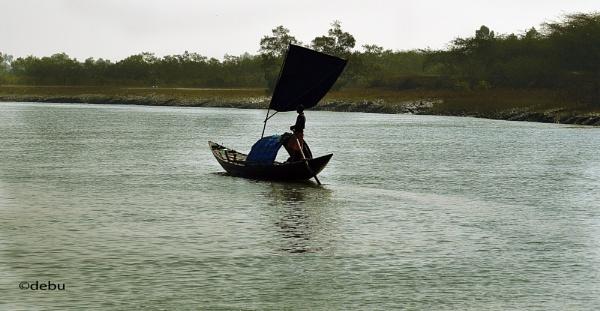 A Sailing Boat by debu