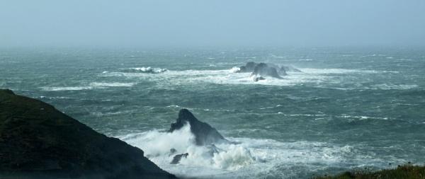 Trevose storm waves by JuBarney