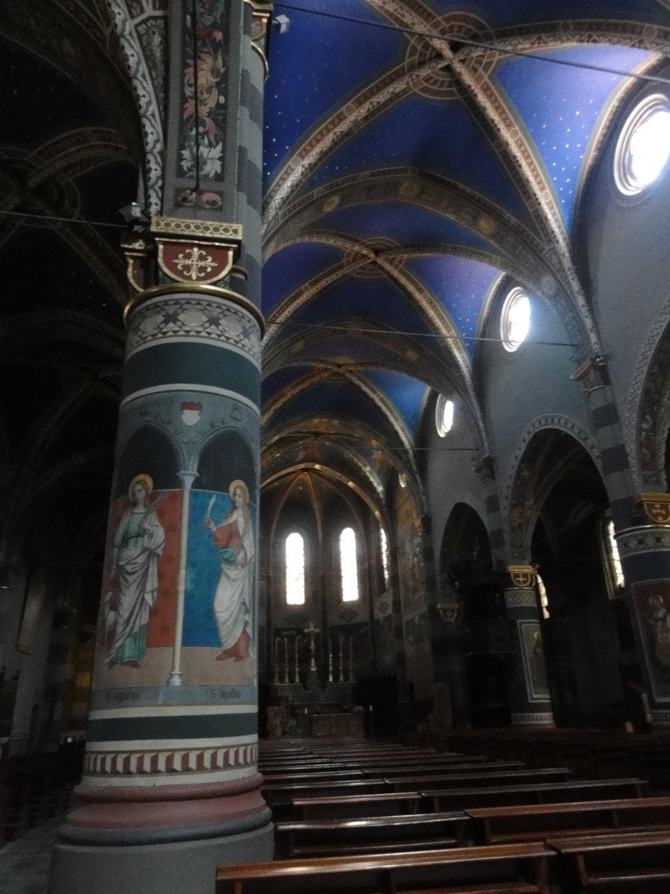 Inside the Church of Pinerollo (Italy, near Turin)