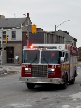 HAMILTON FIRE TRUCK on HUNTER STREET