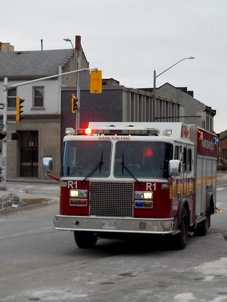 HAMILTON FIRE TRUCK on HUNTER STREET by TimothyDMorton