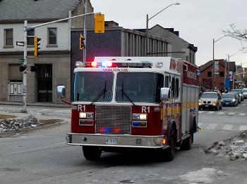 HAMILTON FIRE TRUCK on HUNTER STREET # 02