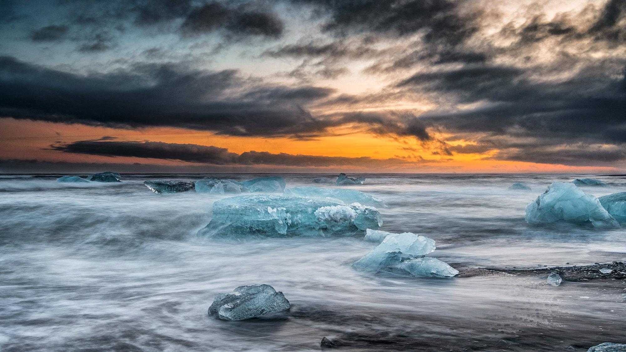 Ice & Sunset