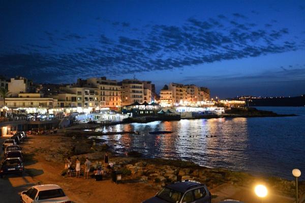 Bugibba At Night by tom2malta2