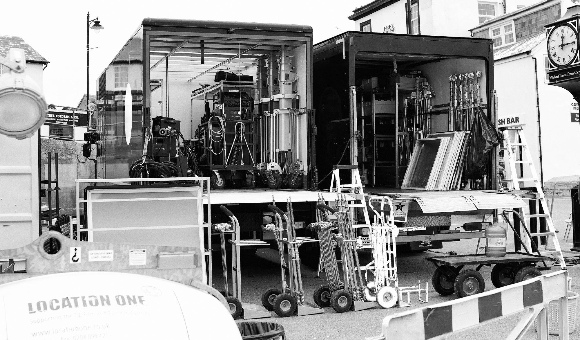 Filming Equipment, Bell Cliff, Lyme Regis