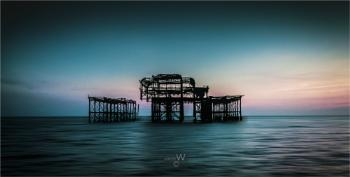 Evening Light At Brighton West Pier.