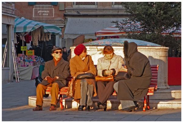 Quartetto, Campo Santa Sofia, nel tardo pomeriggio by glevensis
